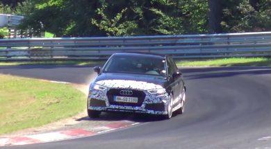 audi rs3 limousine på nurburgring