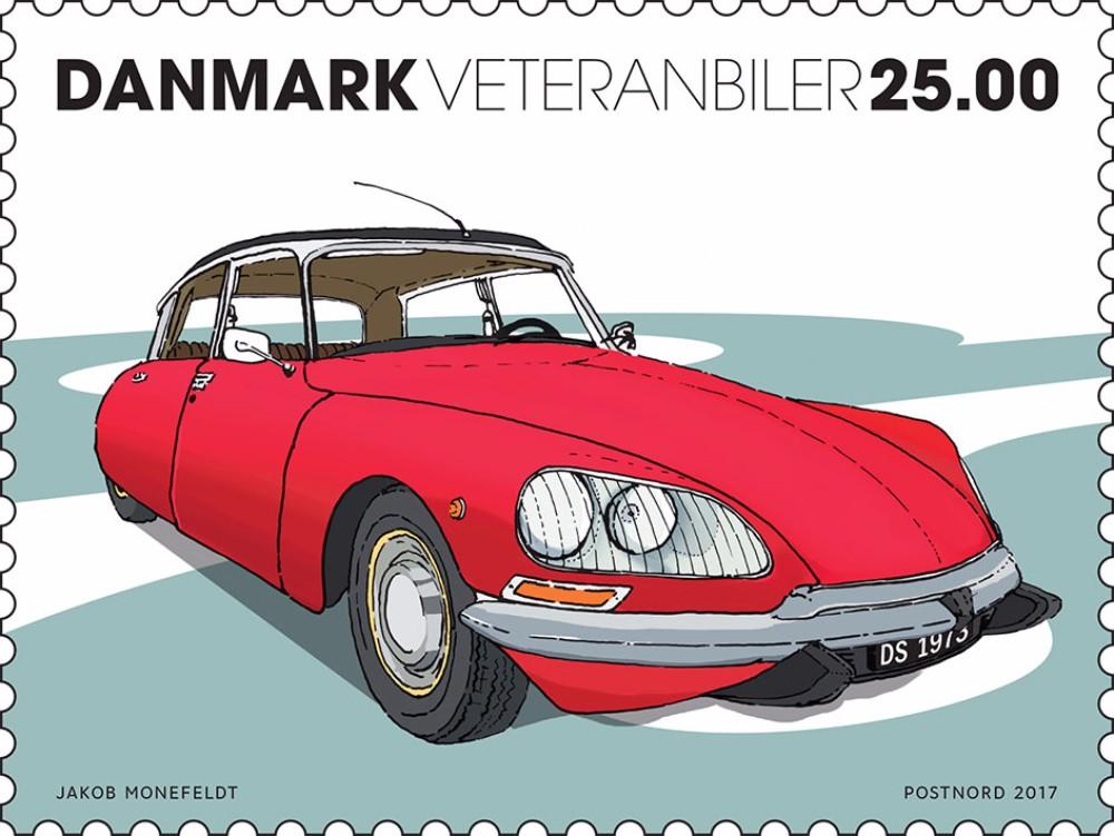 Biler på frimærkerne